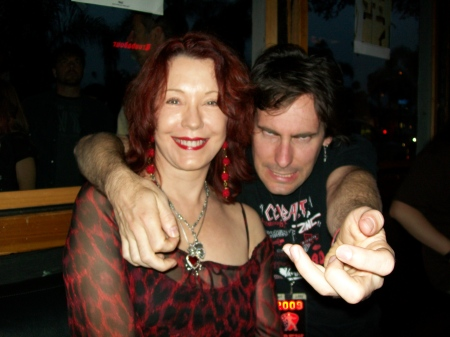 Pamela and US Air Guitar Champ, 2008, Hot Lixx Houlihan